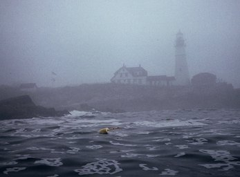 portland head light in fogWEB